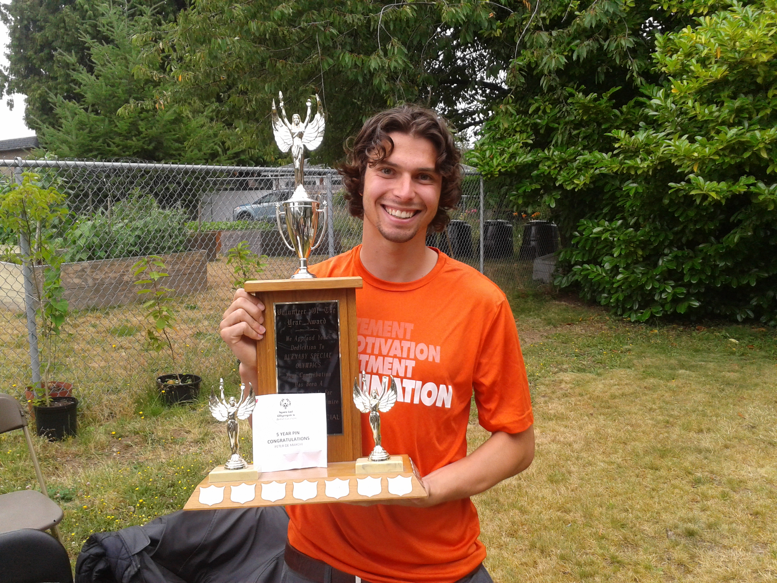 2013-2014 Volunteeer of the Year: Peter DeMarchi